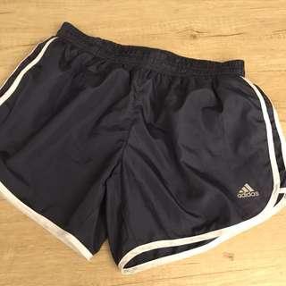 正版adidas深藍色短褲