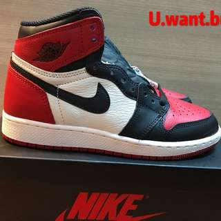AJ1 RETRO HIGH OG BRED TOE