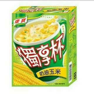 🚚 🎉 售完不補!      ◽康寶獨享杯 奶油玉米 / 奶油蘑菇 / 香蟹海鮮 一盒 $ 40◽