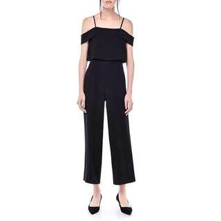 Theeditorsmarket Branca Cold-Shoulder Jumpsuit