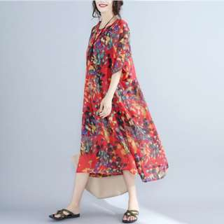 [PO] Minimslist Floral Baggy Dress (48)