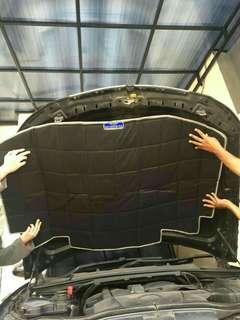 peredam panas dan suara kap mobil BMW E90