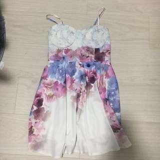 Valleygirl Floral Bustier Dress