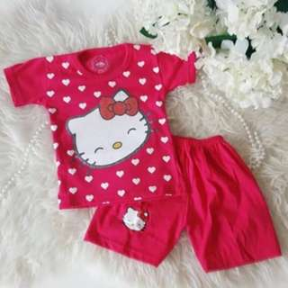 two pieces hello kitty love set