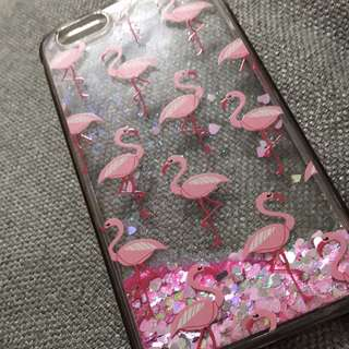 6+ Glittery Flamingo Case