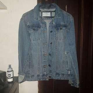 Cotton on ripped denim jacket