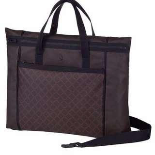 Porter International Briefcase-Dark Brown
