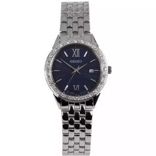 Preorder Seiko Womens Quartz Diamond Accent Blue Dial Analog Watch SUR691P1