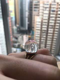 玻璃球戒指