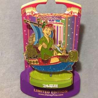 迪士尼徽章 Disney Pin 小飛俠 旋轉木馬 Peter Pan