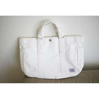 Porter Tokyo 白色皮手挽袋 100%正版絕版特別版
