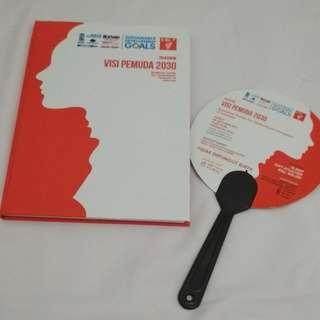 Notebook dan Kipas dari Visi Pemuda 2030