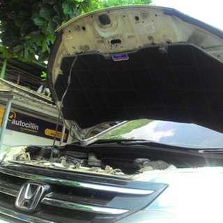 peredam panas dan suara kap mesin Honda CRV