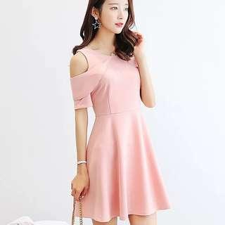 <P.O> Korean Style Sweet Off Shoulder Dress