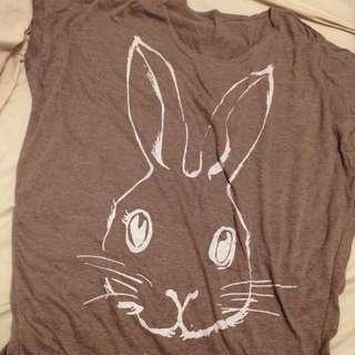 🚚 兔子寬大T
