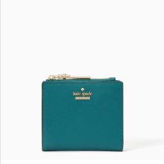SALE Kate Spade Cameron Street Adalyn Small Wallet Pine Needle Turquoise Green Blue
