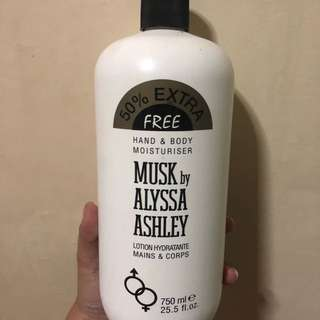 Musk by alyssa ashley lotion (super bango)