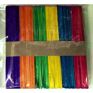 Colorful Wooden Ice Cream Stick