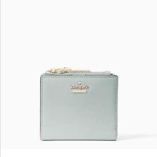 SALE Kate Spade Cameron Street Adalyn Small Wallet Misty Mint Light Blue Green