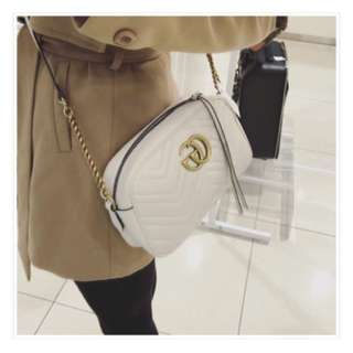 Authentic Gucci Marmont mini matalesse leather crossbody