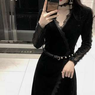 Sexy Overlap Choker Dress