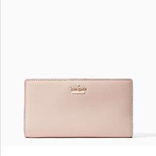 SALE Kate Spade Cameron Street Stacy Medium Snap Wallet Warm Vellum Beige Neutral