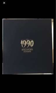 Singapore 1990 stamp year book mint