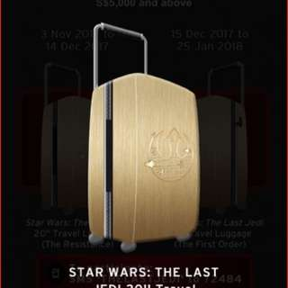 "Brand New Star Wars The Last Jedi 20"" Travel Luggage (sealed)"