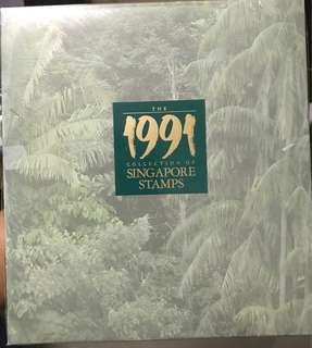 Singapore 1991 stamp year book