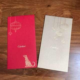 Cartier 2015 CNY collectible red packets/ hong baos/ ang pows