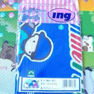 (全新未開封) (現貨有5張) Sanrio 正版 1989年Gimmefive防水墊或沙灘蓆 (尺寸: 60cm X 60cm)