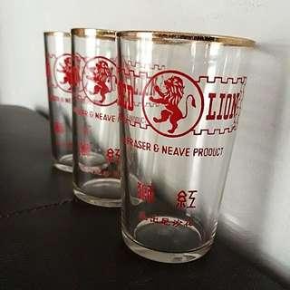 Vintage Fraser & Neave Red Lion Drinking Glass