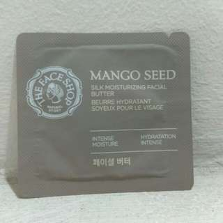 The face shop mango seed silk moisturizing facial butter sample trial