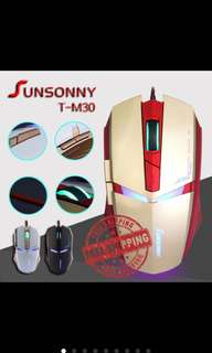 Sunsonny T-M30 Iron Man Gaming Mouse