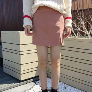 #792 summer side slit hw aline skirt