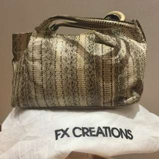 FX Creations Snakeskin bag