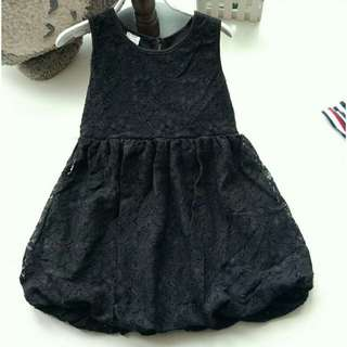 *FREE DELIVERY to WM only / Ready stock* Kids dress blk lace 3-4yo 4-5yo each shown design/color. Free delivery is applied for this item.