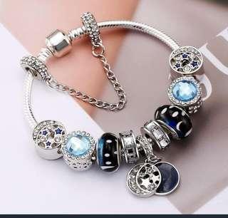 P2mart.com ✌ Moon Murano Glass Bead Bracelet & Bangles