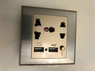 Power Socket with USB Port