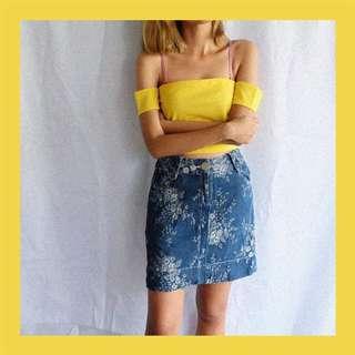 Shouler Top & Denim Skirt