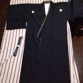Men's Kimono with Nagajuban and Obi