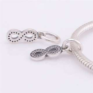 (OUT OF STOCK) Code SS35 - Infinity Dangle 100% 925 Sterling Silver Charm, Chain Is Not Included, Compatible With Pandora