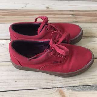Vans red rubber shoes
