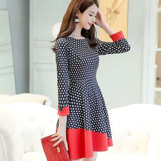 <P.O> Korean Ulzzang Retro Vintage Sleeved Checkered Dress