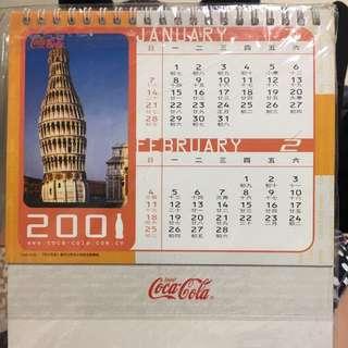 經典可口可樂坐枱月曆