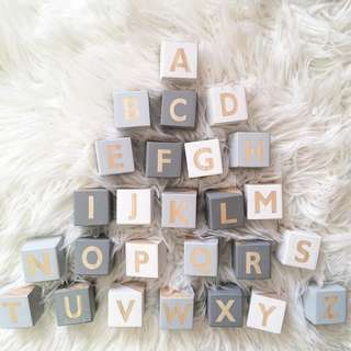 Decorative Alphabet Wooden Blocks