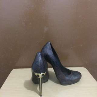 TORY BURCH JUDE SNAKE SKIN LEATHER PUMPS