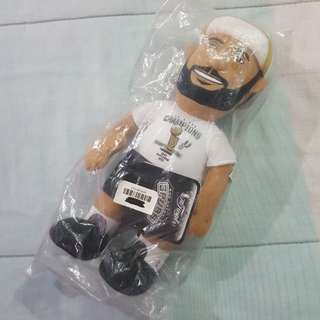 "Legit Brand New With Tags Bleacher Creatures NBA Tim Duncan 10"" San Antonio Spurs Finals Champion Plush Toy"