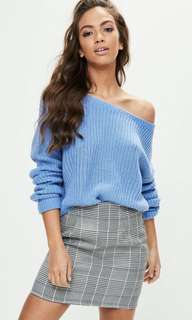 Missguided Off Shoulder Knit Sweater