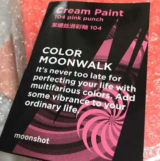Instock moonshot cream paint 104 pink punch mini tube